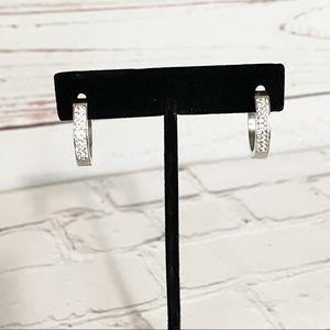 Jewelry - Stainless Steel Earrings w/ Faux Diamonds